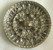 A Rare 9.5 Cm Chinese Tang And039beasts And Grapesand039 Silver Plated Bronze Mirror 海獸葡萄鏡