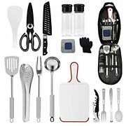 Camping Kitchen Equipment Camping Cooking Utensils Set Portable Picnic Cookware