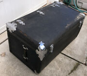 Antique Packard Automobile Travel Trunk Oem Original Packard W/tag 36x18 1930's