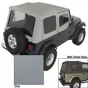 Rugged Ridge Charcoal Replacement Soft Top 1988-1995 Jeep Wrangler Yj W/tinted