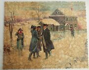 Vintage Wooden Jigsaw Puzzle 422 Pcs Washington At Valley Forge