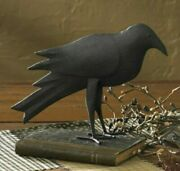 New Primitive Crow Metal Black Rustic Farmhouse Standing 6.5t 9w Country Fall