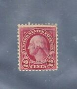 Vintage George Washington Red Two Cent Stamp Used Very Nice Free Shipping