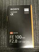 Sony E-mount Lens Sel100f28gm Fe100mm F2.8 Stf Gm Oss With Tracking