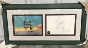 Limited Edition 1999 Chariots Of Fur Framed Animation Cel And Sketch 1/1 04485
