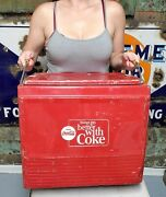 Vintage 1960and039s Coca-cola Cooler W/tray Things Go Better With Coke Soda