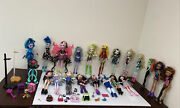 Monster High And Ever After High Doll Lot Of 20 Dolls/ Some Rare / Sold As-is