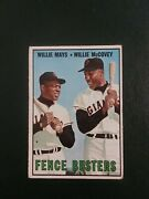 1967 Topps 423 Willie Mays/willie Mccovey Fence Busters No Creases Read Itemb