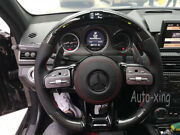 Led Amg Carbon Fiber Flat Custom Steering Wheel For Mercedes-benz Amg Old To New