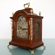 Warmink Mantel Top Clock Vintage Dutch Moonphase High Gloss Double Bell Chime