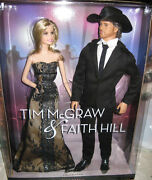 Barbie And Ken Tim Mcgraw And Faith Hill Dolls Nrfb Pink Label Mattel