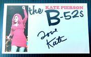 The B-52s Kate Pierson Rock Lobster Love Shackautographed 3x5 Index Card