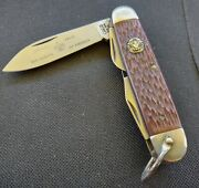 Vintage Camillus Boy Scout Knife With Full Blade Etch.made In U.sa.