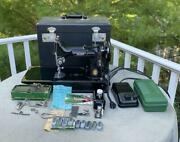 Singer Featherweight Sewing Machine 221-1 Case And Accessories 1950 Centennial