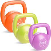 Kettlebell Body Trainer Set With Dvd, Includes 3 Kettlebells 5, 10, 15 Pounds
