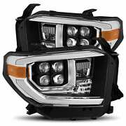 14-19 For Toyota Tundra Led Projector Headlights Plank Style Design Matte Black