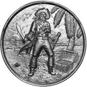 2 Oz Elemetal The Captain Ultra High Relief Silver Round Privateer Series 3