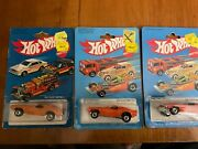 Vintage Hot Wheels Black Wall Dixie Challenger Lot Of 3 198119821983 Flag On