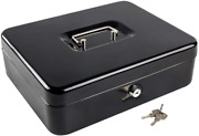 Kyodoled Metal Cash Box With Money Tray And Lockmoney Box With Cash Traycash D