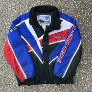 Vintage Yamaha Snowmobile Jacket Size Large Embroidered Patch Color Block 90s
