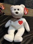 Valentino Beanie Baby Brown Nose, Pe Pellets, Errors, Rare 1st Edition, Mint