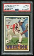 2016 Topps Heritage 674 Throwback Rc Tim Anderson Psa 10 Gem Mint 41235941