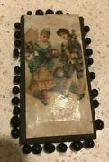 Antique Victorian H. F. Neuss German Lithograph Sewing Pin Card Chapelle Germany