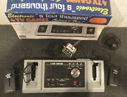 Vintage Tv Electronic Games Console, Kmart S4000 With Box, Manual, Warranty Card