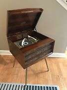 Vtg Rca Victor Orthophonic Hi-fi Record Player Model Shf-7 -clean And Working