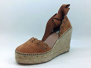 Tabitha Simmons Womens Wedge Sandals D9mst Brown Size 6.5