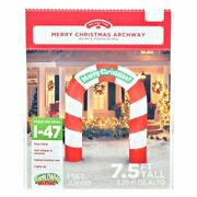 7and039 Gemmy Airblown Christmas Candy Archway Inflatable Lighted Yard Decoration