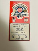 1990 Chicago Cubs Baseball All-star Game Ticket