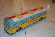 Vintage Battery Operated Cragstan Giant School Bus Tested And Working Best Offer