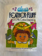 Vintage 60s Deadstock Alexis Feather Fluff 100 Cotton 6 Baby Diapers Cloth Nos