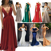 Women Wedding Evening Cocktail Party Prom Bridesmaid Formal Ball Gown Dresses