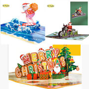 10 Pack Pop Up Merry Christmas Cards 3d Xmas Greeting Cards Holiday Gift