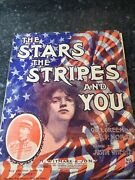The Stars Stripes And You By Wheeler Rare Antique Sheet Music Patriotic Vintage