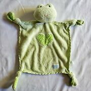 Eden Frog Security Blanket Lovey Green Heart Knots Baby Toy Plush