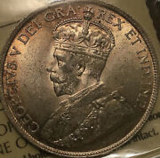 1919 Newfoundland Silver 50 Cents Half Dollar - Iccs Certified Ms-63