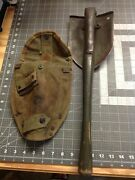 Very Rare Wwii Usa Military Army 1965 Ames Shovel With Pick/cover/wooden Handle