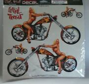 Lethal Threat 2003 Chopper Chick Sexy Girl On Motorcycle Lt06028 Rare R