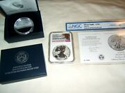 2019-s Enhanced Reverse Proof Silver Eagle Ngc Pf70 First Releases And Ngc Coa