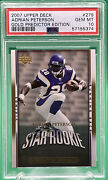2007 Upper Deck Adrian Peterson 279 Rc Rookie Gold Predictor Edition 🏦 Psa 10