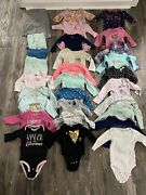 Girls 6 Months 6m Fall And Winter Lot 30 Pieces Longsleeve Pants And Shirts