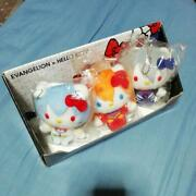 Evangelion X Hello Kitty Collaboration Plush Toy With Box Seven-eleven Limited