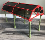 Ultra Rare Factory Assembled Pride Lines Ives Glass Dome Train Shed.