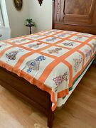 Dated 1939 Hand Stitched Summer Quilt Sunbonnet Sue Never Used Provinance 82x91