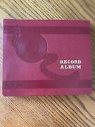 Vintage 78 Rpm Record Storage Book Album - 10 Records Included, White Christmas