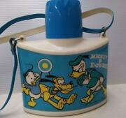Vintage Mickey Donald Pluto Water Bottle Thermos By Zojirushi Disney 1970s