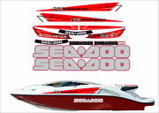 Seadoo Speedster 200 2004 - 2007 Graphics /decal Replacement Kit Red